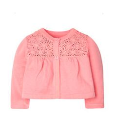 View details of Pretty Pink Crochet Cardigan
