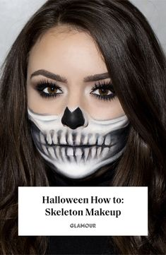 Half-Skeleton Makeup Is Trending for Halloween, and It's Scary Good Halloween Tutorial, Diy Halloween, Halloween Costumes, Halloween Office, Halloween City, Halloween College, Halloween Couples, Pretty Halloween, Group Halloween