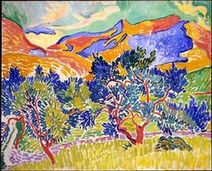 Mountains at Collioure by Andre Derain :: Andre Derain