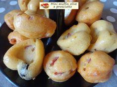 Mini+muffin+olive+e+prosciutto.+Morbida+croccantezza.
