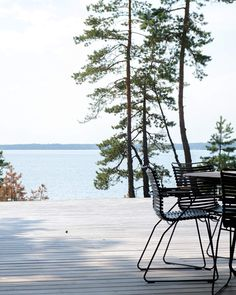 Summer house with a sea view in Porvoo, Finland. Outdoor Spaces, Outdoor Living, Outdoor Decor, Wooden House, Cabins In The Woods, Black House, Garden Planning, Beautiful Homes, Villa