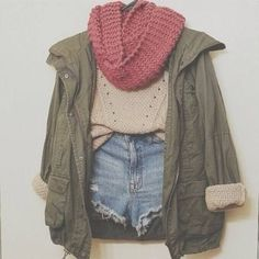 Switch out the high-waisted shorts for some nice American Eagle high-waisted jeans and this outfit would be what dreams are made of.