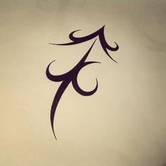 sagittarius tribal tattoos zodiac on Tattoos, Bow  and Ink Pinterest Tattoos  Tattoos White Sagittarius