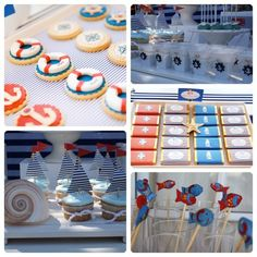 Ideas para fiestas infantiles Baby Shower Desserts, Baby Shower Cakes, Baby Boy Shower, 4th Birthday Parties, 1st Birthdays, Bbq Decorations, Baby Shower Quotes, Candy Bar Party, Candy Table