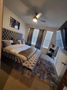 Room Design Bedroom, Room Ideas Bedroom, Home Bedroom, Bedroom Decor, Bedroom Colors, Luxury Rooms, Luxurious Bedrooms, First Apartment Decorating, Hallway Decorating