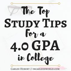 The Top Study Tips for a GPA in College - Plus a FREE study schedule! Want the best study tips for college? Learn how I had a part-time job, internship, on-campus organizations, honors classes, and still kept a GPA! Online College Classes, Education College, Science Education, Physical Education, College List, College Fun, College Basketball, College Success, State College