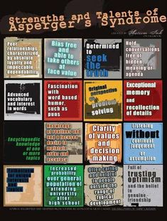 Strengths and talents of Asperger's Syndrome | via Facebook