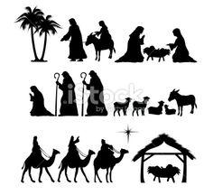 Nativity Scene Silhouette | Nativity Silhouette Pattern http://www.istockphoto.com/stock ...