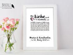 Weiteres - Kunstdruck Hohelied der Liebe ♥ Hochzeitsgeschenk - ein Designerstück…