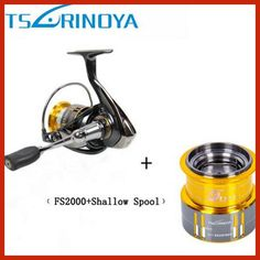 2017 Tsurinoya FS2000 Spinning Fishing Reel 9+1BB/ 5.2:1/5kg Metal Spool Screw in Handle with spare spool Molinete Para Pesca