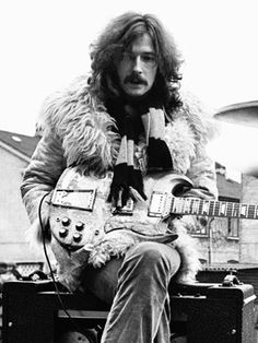 Eric Clapton, with his famous psychedelic Gibson SG during the Cream days