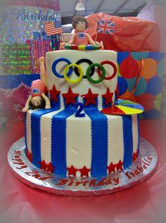 Olympic Birthday Cake Gymnastics Cakes Sports 9th