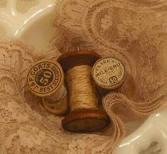 old lace and thread...