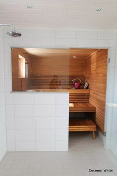 Portable Steam Sauna - We Answer All Your Questions! Home Spa, Bathroom Interior Design, Interior, Sauna Room, Modern Saunas, Modern Cottage, House Interior, Basement Bathroom, Spa Rooms