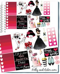 Image result for fall fashion planner sticker printables