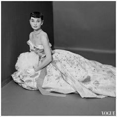 Audrey Hepburn Vogue Mar 1952  Photo Richard Rutledge