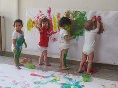 babies painting fun