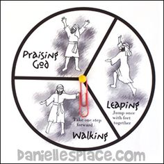 "Walking, Leaping, and Praising God"" Spinner Game for Peter Heals the ..."