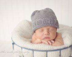 Neonato foto Prop Beanie/Slouchy Hat-mano a maglia cappello bambino cappello neonato per il cofano-inverno colori 28-lana merino