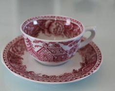 Arabia Finland Vintage Designs, Retro Vintage, Hopea, Teacups, Scandinavian Design, Cup And Saucer, Finland, Tea Time, Coffee Cups