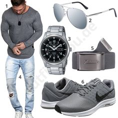 Graues Herrenoutfit mit Longsleeve, Nike's und Brille #nike #jeans #longsleeve #brille #frühling #outfit #style #herrenmode #männermode #fashion #menswear #herren #männer #mode #menstyle #mensfashion #menswear #inspiration #cloth #ootd #herrenoutfit #männeroutfit
