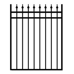 48-in x 39-1/2-in Powder-Coated High-Gloss Black Galvanized Steel/Aluminum Fence Gate - Lowe's Canada