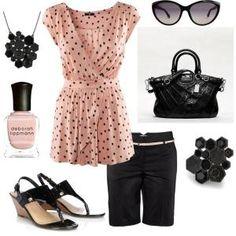 Pink n' Black Polka Dots #summer