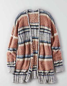 AEO Textured Kimono Cardigan , Multi | American Eagle Outfitters