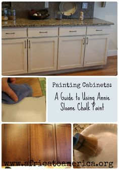 A step by step guide to painting cabinets with Annie Sloan Chalk Paint.