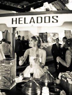 ¡Un carrito de helado para la boda! LOVE IT {Foto, Yulia Ignatova}