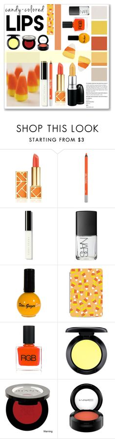 """Candy Corn Colored Lips"" by cowseatchard ❤ liked on Polyvore featuring beauty, Tory Burch, Urban Decay, Bobbi Brown Cosmetics, M.A.C, NARS Cosmetics, Casetify, RGB Cosmetics, MAC Cosmetics and Shany"