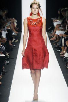 Carolina Herrera Spring 2009 - Fuchsia silk dress with embroidery detail. ( Retail: $3290 // Towne & Market: $250 )