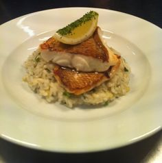 Its fish time! Barramundi is in the menu tonight and whats the perfect side dish? Well rice of course! Barramundi with preserved lemon  and dill risotto.