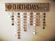 Calendrier anniversaire.
