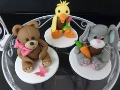 teddy, rabbit and duck
