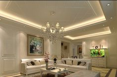 16 Admirable Suspended Ceiling Designs To Create An Enviable First  Impression. Living Room ...