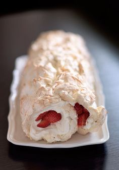 Strawberry meringue roulade recipe from Aga Year by Louise Walker | Cooked
