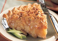 Cinnamon Crumble Apple Pie  This was simply the best. Best apple pie ever.