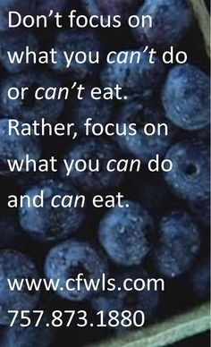 Weight loss - think positive - you can do it!  We can help.  www.cfwls.com/
