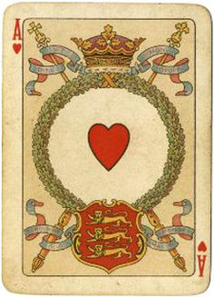 A playing card from the pack commemorating Queen Victoria's Diamond Jubilee, manufactured by Chas Goodall & Son, 1897.