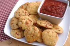 Easy Pizza Bites (Grain-Free & Low-Carb) - (try veg instead of sausage/pepperoni)