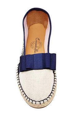 Escadrille - Canvas Espadrilles with Blue Bow
