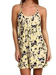 Roxy Women's Join In Halter Cover Up Dress Yellow « Clothing Impulse