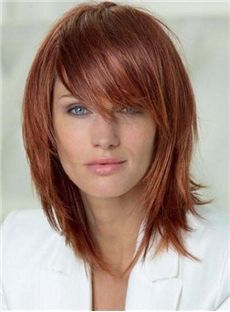 Charming Medium Layered Straight Capless Synthetic Wig