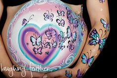Pregnant Belly Painting by Australian artist Emily from http://www.funtasticfaces.com.au/baby-belly-art.html