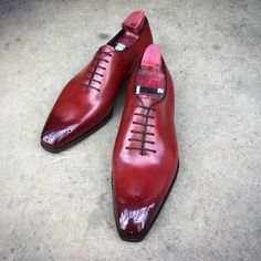"""The """"Grant"""" in a flashy cherry colour. Made to... - Gaziano & Girling - Bespoke & Benchmade Footwear"""