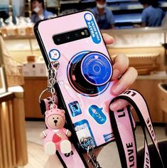 Buy Wholesale Personality Camera Silicone Lanyard Covers Wristband Back Shell Soft Cases For Samsung Galaxy - Pink from Chinese Wholesaler Girly Phone Cases, Iphone Phone Cases, Samsung Cases, Samsung Galaxy S9, Personalised Phone Covers, Shoulder Necklace, All Things Cute, Gadgets And Gizmos, Mobile Cases