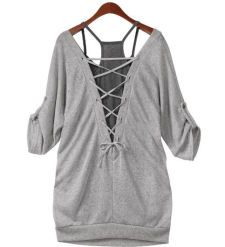 CROSSED BACK SHIRT WITH INNER TANK TOP [252] / iWooz