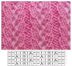 How to make a Knitted Kimono Baby Jacket - Free knitting Pattern & tutorialDoes this help you with knitting instructions? Pattern: Cast on 96 sts, Lace Knitting Stitches, Lace Knitting Patterns, Knitting Charts, Lace Patterns, Easy Knitting, Knitting Designs, Knitting Socks, Stitch Patterns, Knitting Machine