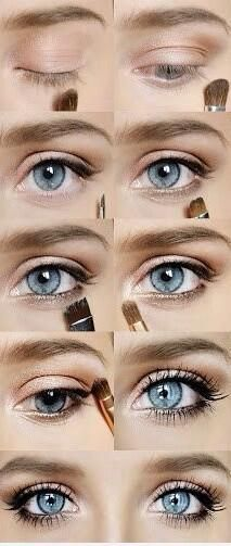 If you want a really simple makeup look, this is for you. I can't find a tutorial for this, but it looks pretty basic: soft pinks and whites with white eyeliner on your inner lid. This look is bright and pretty – just add false eyelashes!